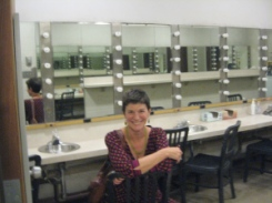 September 2013: Snuck back into the Earlham College makeup room, where I used to get into character...